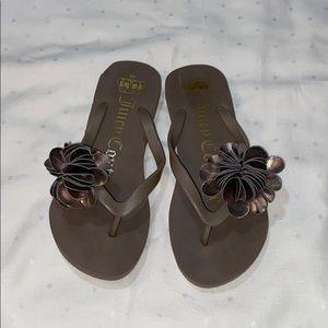 Authentic Juicy Couture flip flops sandals Sz 5-6